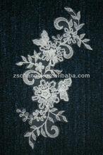 cinta de gasa bordado floral nupcial apliques de encaje
