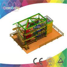 Kids Indoor adventure playground clatter bridge rope course obstacle HSZ-JS0244