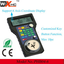 Mini MPG cnc wireless remote controller, key button+ Hand wheel+ LCD display PHB04-6