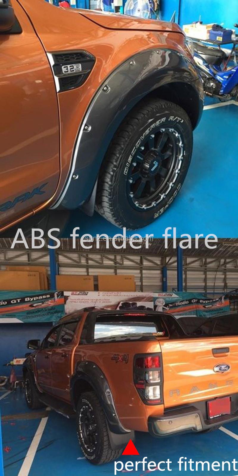 abs plastique hilux largisseurs d 39 ailes pour ranger 2015 voiture passage de roue fender flare. Black Bedroom Furniture Sets. Home Design Ideas