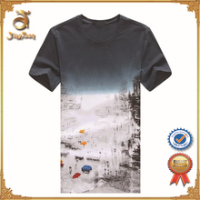 wholesale high quality 92% polyester 8% spandex mens t shirt