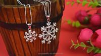 Christmas gift snowflake pendant necklace china wholesale alibaba