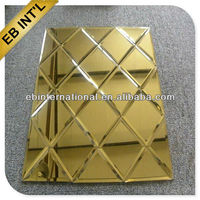 1.3mm-6mm gold silver mirror / double coated mirror sheet