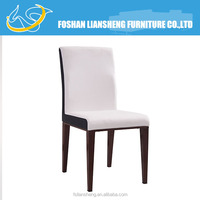 Black and white mix color pu metal dining chair with steel legs DCI3075#