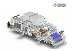 Most advanced 2850-500 crescent former tissue paper machine- has been running in China