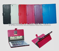 """Lichi Wallet Leather case with Credit ID Card Holder For Apple Ipad MINI 7""""tablet"""