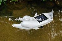 solar garden dolphin fountain solar dolphin spitter solar garden decoration dolphin shape fountain
