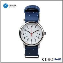 2015 hot selling fashion watch stainless steel case back, nylon watch strap