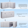 New style hospital mobile dental cabinet made of first grade stainless steel medical trolley dental furniture