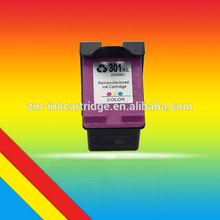 Venta caliente impresora con cartucho de tinta remanfacturada CC564E (H301XL C) para HP Deskjet 2540