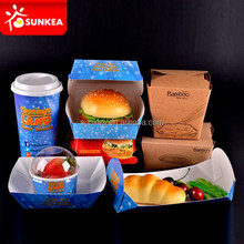 Paper food packaging, food service disposables