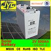 Guangdong old brand 2v 800ah solar panel battery
