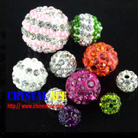 Assorted color fancy crystal ball, shamballa beads