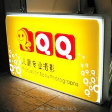 Plastic vacuum forming street light advertising light box