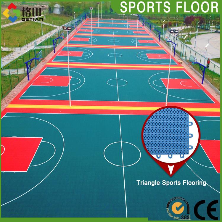 Multiuso azulejo de piso, Enclavamiento baldosas de alfombras, Suspendido enclavamiento pavimentos deportivos para al por mayor