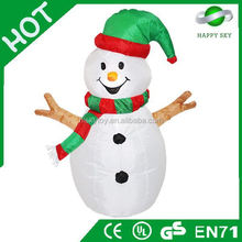 2015 Brand New Design Hot sale snowman christmas decoration inflatable, christmas inflatable product, inflatable xmas decoration