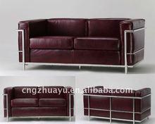 genuine leather hotel Sofa set