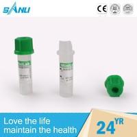 health products free size green cap sodium&lithium heparin tube