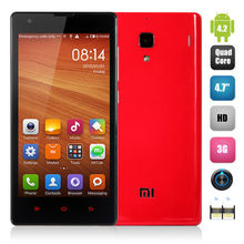 Video Chat Mobile Phone 4.7 Inch Xiaomi Redmi 1S Hongmi 1S Qualcomm 8228 Snapdragon 400 Quad Core 1G 8G Camera 1.6+8.0MP