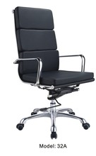 High back office metal chair / Chrome office desk chair / Good quality executive chair