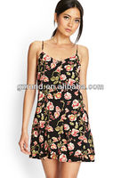 China Clothing Manufacturer OEM&ODM New arrival Nice Floral Printed ladies Dress