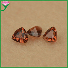 Wholesale charming loose fat triangle cut natural garnet stone