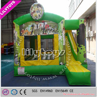 Wholesale price inflatable bouncer combo, cartoon boucy combo, inflatable castle for activity