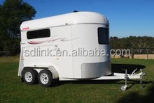 China Made high quality low price 2 horse angle load standard model horse float travel trailer