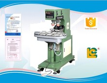 Customized and low price 2-color Shutte Sealed label, pen ,balloon , tude, pad printing machine with conveyer LC-SPM6-200/10T
