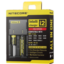 Original universal portable Nitecore i2 intelligent battery Charger for battery 10440, 16340, 18350, 18500, 18650, 26650 .aa