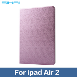 Ultra Thin Multiple Color Stand Design PU Leather case for ipad Air 2 Flip Smart Cover