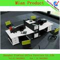 venta caliente de moda de acero inoxidable 4 plazas escritorio de oficina