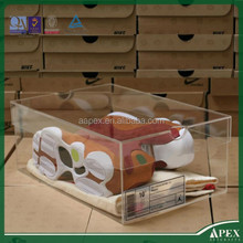 High Quality Transparent Acrylic Sneaker Box /Plexiglass Shoes Display Box /Plastic Nike Running Shoes Display Rack Manufacturer