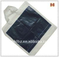 plastic soft loop handle bag with bottom guesset