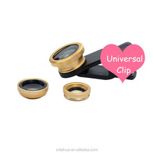 Universal 3 in 1 clip mobile phone lens Wide Angle Macro Fish Eye