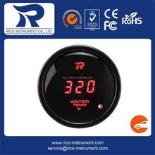 52mm Automobile Gauge Digital Red LED Fahrenheit - Water Temperature Meter