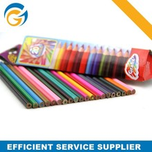 Wood Multi Colored Leaded Pencil Fluorescent Color Pencil