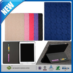 C&T 2015 luxury business ultrathin leather magentic smart folio cover case for ipad air 2