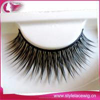 Wholesale premium 100% human hair eyelash,0.07mm colorful mink eyelashes/individual false eyelashes