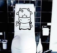 DIY Removable Bathroom Tile PVC Wall Sticker Home Decor Vinyl Wall Decal Sticker Cartoon Calf Toilet Sticker