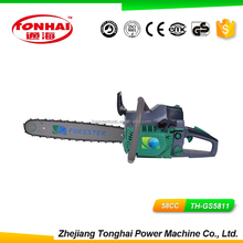 High Speed TH-GS5811 PSingle Cylinder Air-forced Cool 2 Stroke Saw chainsaw steel