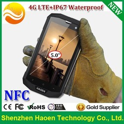 2015 Factory NEW 4G NFC Smart phones IP67 Waterproof 4G LTE NFC smartphones Military Rugged Qualcomme 5 inch NFC 4G smart phones