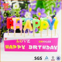 alphabet birthday candle