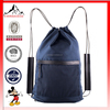 Hight Quality Custom Canvas Drawstring Backpack With Leather Strap (ESX-LB244)