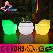 waterproof led cube chair lighting,led table and chair set,led bar chair