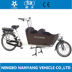 Dutch 2 wheel Electrical bakfiets for carrying kids / electric bike