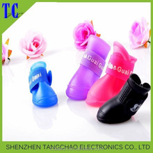 Pet products Dog shoe For Rain Days Soft and comfortable rubber material water proof pet dog shoes