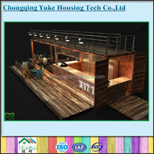 prefabricated bar by 20ft container house