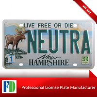 New Hampshire 2010 neutra License Plate,new style favorable price wholesale blank license plates