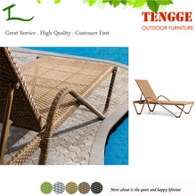 TG15-0021 New design synthetic rattan outdoor lounger